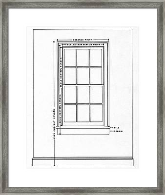 Illustration Of A Window Framed Print
