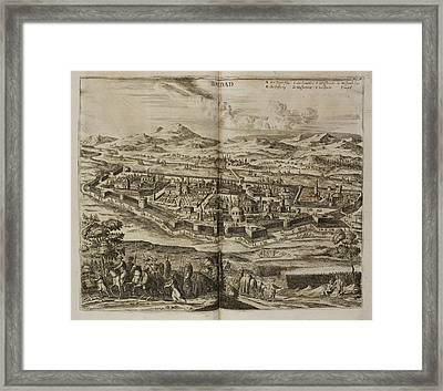 Illustration Of Baghdad In The 17th Centu Framed Print