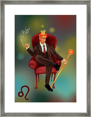 Illustration Of Characteristic Of A Leo Businessman Framed Print by Fanatic Studio / Science Photo Library