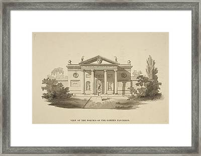 Illustration Of Classical-style Buildings Framed Print by British Library