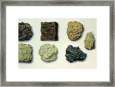 Illustration Of Different Types Of Volcanic Rocks