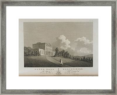 Illustration Of Downe Hall Framed Print by British Library