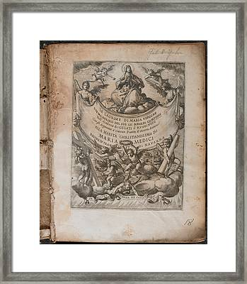 Illustration Of 'le Lagrime Di Maria Verg Framed Print by British Library