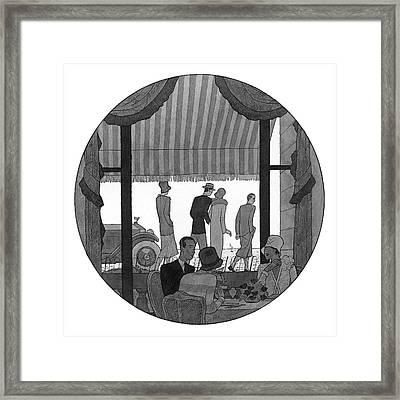 Illustration Of Madame De Gainza And Madame De Framed Print