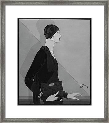 Illustration Of Madame De Munoz Framed Print by Douglas Pollard