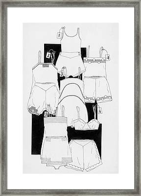 Illustration Of Sleepwear Framed Print by Smith
