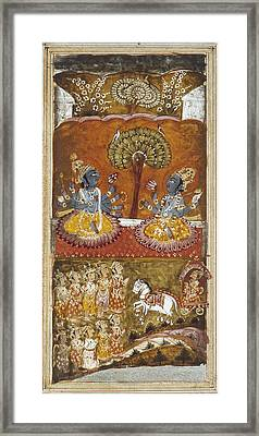 Illustration Of The Bhagavata Purana Framed Print by Everett