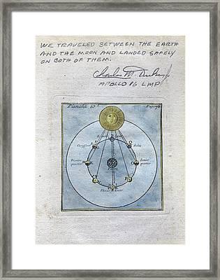 Illustration Signed By Charlie Duke Framed Print