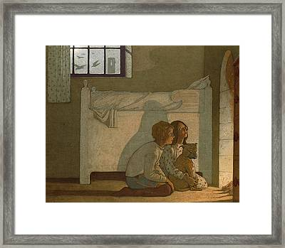 Illustration To Maeterlinck's The Bluebird Framed Print by Frederick Cayley Robinson