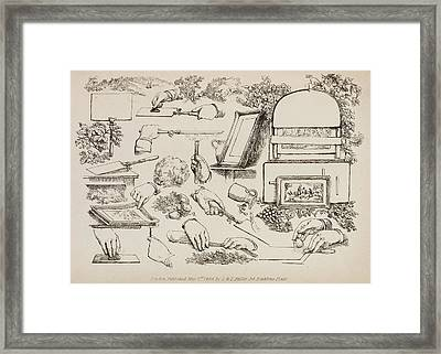 Illustrations Of Technique And Form Framed Print