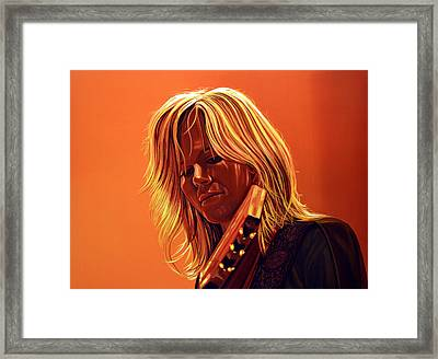 Ilse Delange Painting Framed Print by Paul Meijering