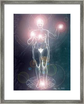 Iluminated Goddess Framed Print