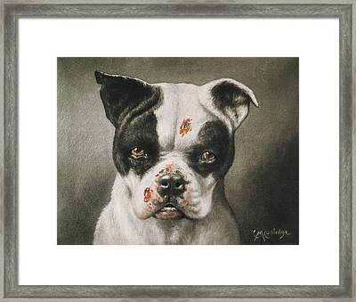 I'm A Bad Dog What Kind Of A Dog Are You Circa 1895 Framed Print by Aged Pixel