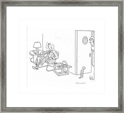 I'm A Boy Framed Print by George Price