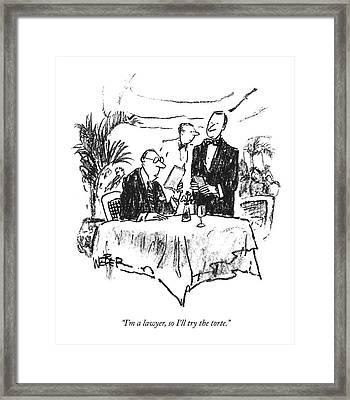 I'm A Lawyer Framed Print by Robert Weber