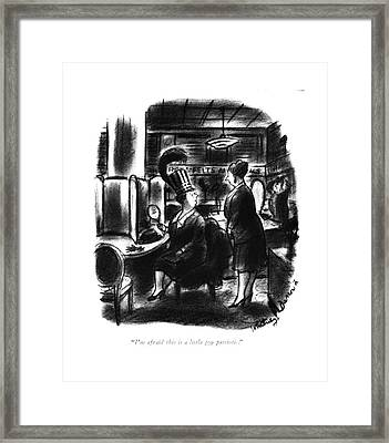 I'm Afraid This Is A Little Too Patriotic Framed Print by Whitney Darrow, Jr.