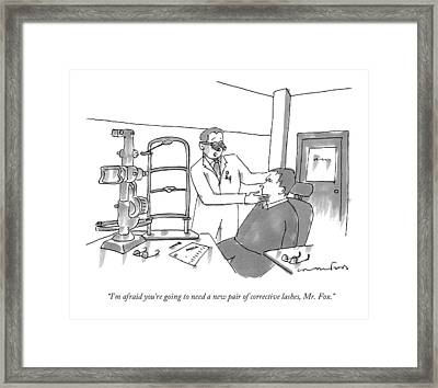 I'm Afraid You're Going To Need A New Pair Framed Print by Michael Crawford