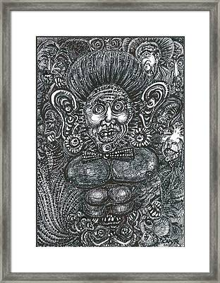 Framed Print featuring the mixed media I'm All Ears by Giovanni Caputo