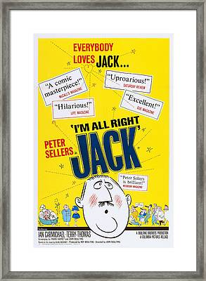 Im All Right, Jack, Poster Art, 1959 Framed Print