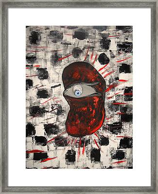 Im Auge Des Betrachters Framed Print by Nico Bielow