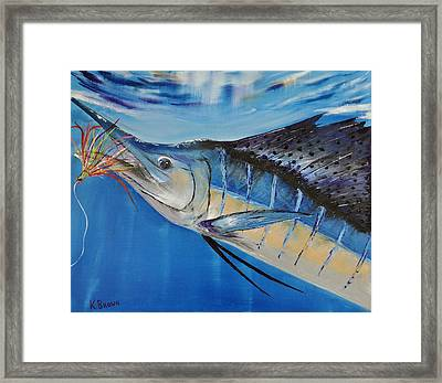 I'm Caught Framed Print