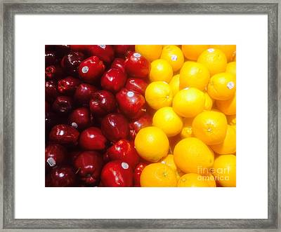 I'm Comparing Apples And Oranges Framed Print