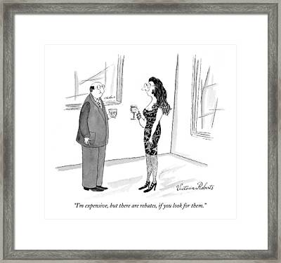 I'm Expensive Framed Print by Victoria Roberts