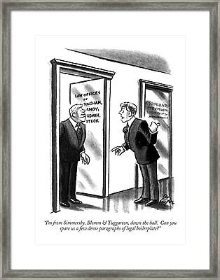 I'm From Simmersby Framed Print by Ed Fisher