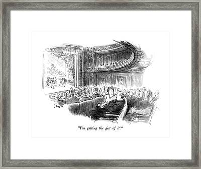 I'm Getting The Gist Of It Framed Print by Charles Saxon