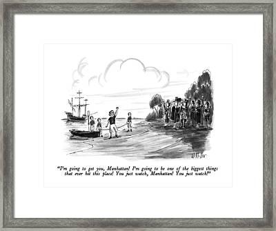 I'm Going To Get Framed Print by Warren Miller