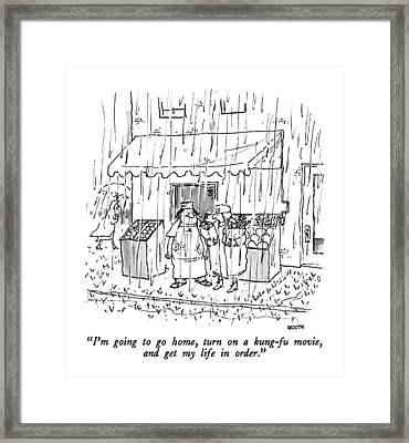 I'm Going To Go Home Framed Print by George Booth