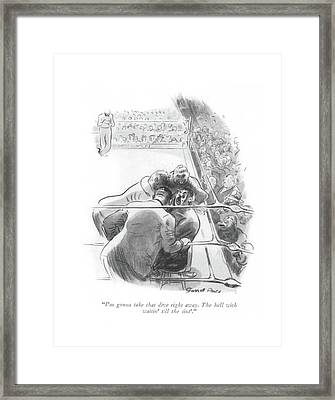 I'm Gonna Take That Dive Right Away. The Hell Framed Print
