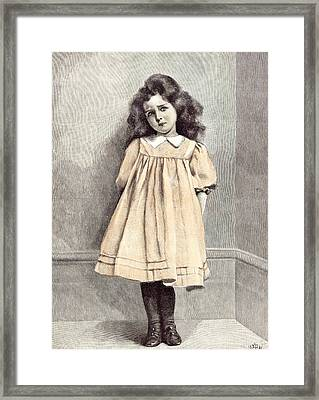 Im Good Now E. Patry 1892 Girl Corner Shy Dress White Framed Print by English School