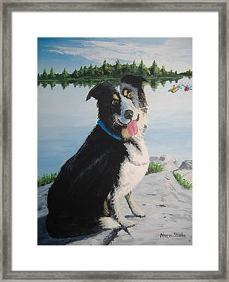 I'm Guarding The Camp Framed Print by Norm Starks