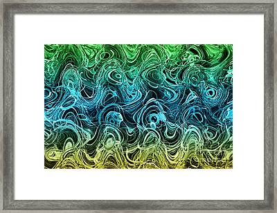I'm In A Bit Of A Muddle - Abstract 1 Framed Print by Natalie Kinnear