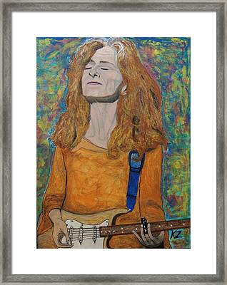 I'm In The Mood For Bonnie Raitt. Framed Print by Ken Zabel