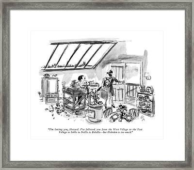 I'm Leaving Framed Print by Everett Opie