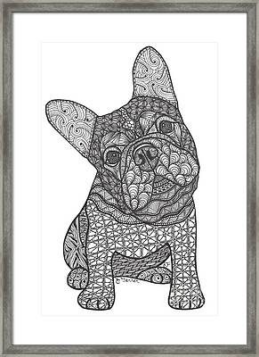 I'm Listening - French Bulldog Framed Print