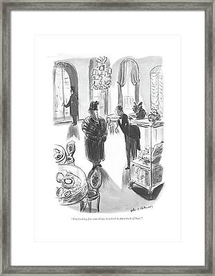 I'm Looking For Something In Which To Put A Lock Framed Print by Helen E. Hokinson
