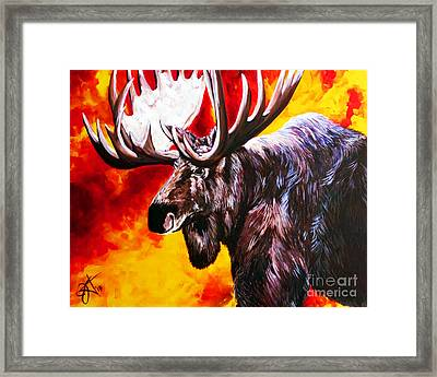 I'm No Bambi Framed Print