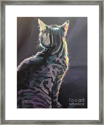 I'm Not Listening Framed Print by Kimberly Santini