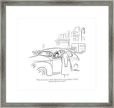 I'm On My Way To 'the Three Sisters Framed Print by  Alain
