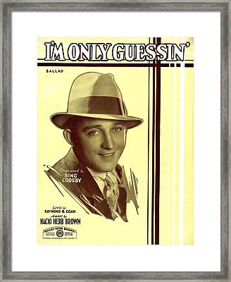 I'm Only Guessin' Framed Print by Mel Thompson
