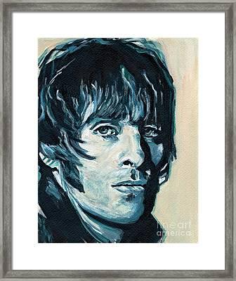 Liam Gallagher Framed Print by Tanya Filichkin