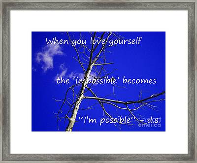 I'm Possible Framed Print by Drew Shourd