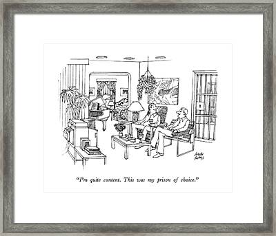 I'm Quite Content.  This Was My Prison Of Choice Framed Print by Joseph Farris