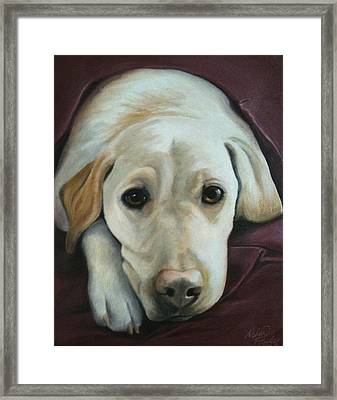 I'm Ready For Bed Framed Print by Debbie Finley