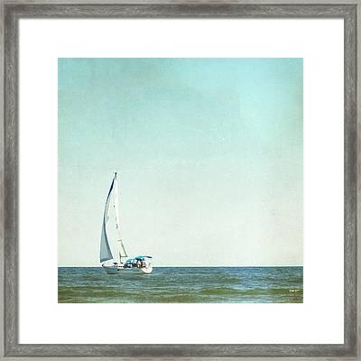 I'm Sailing Away Framed Print