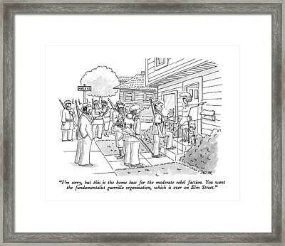 I'm Sorry, But This Is The Home Base Framed Print by Jack Ziegle