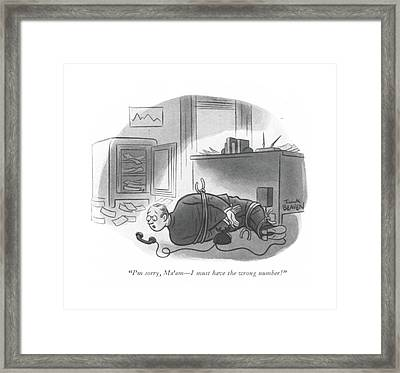 I'm Sorry, Ma'am - I Must Have The Wrong Number! Framed Print by Frank Beaven